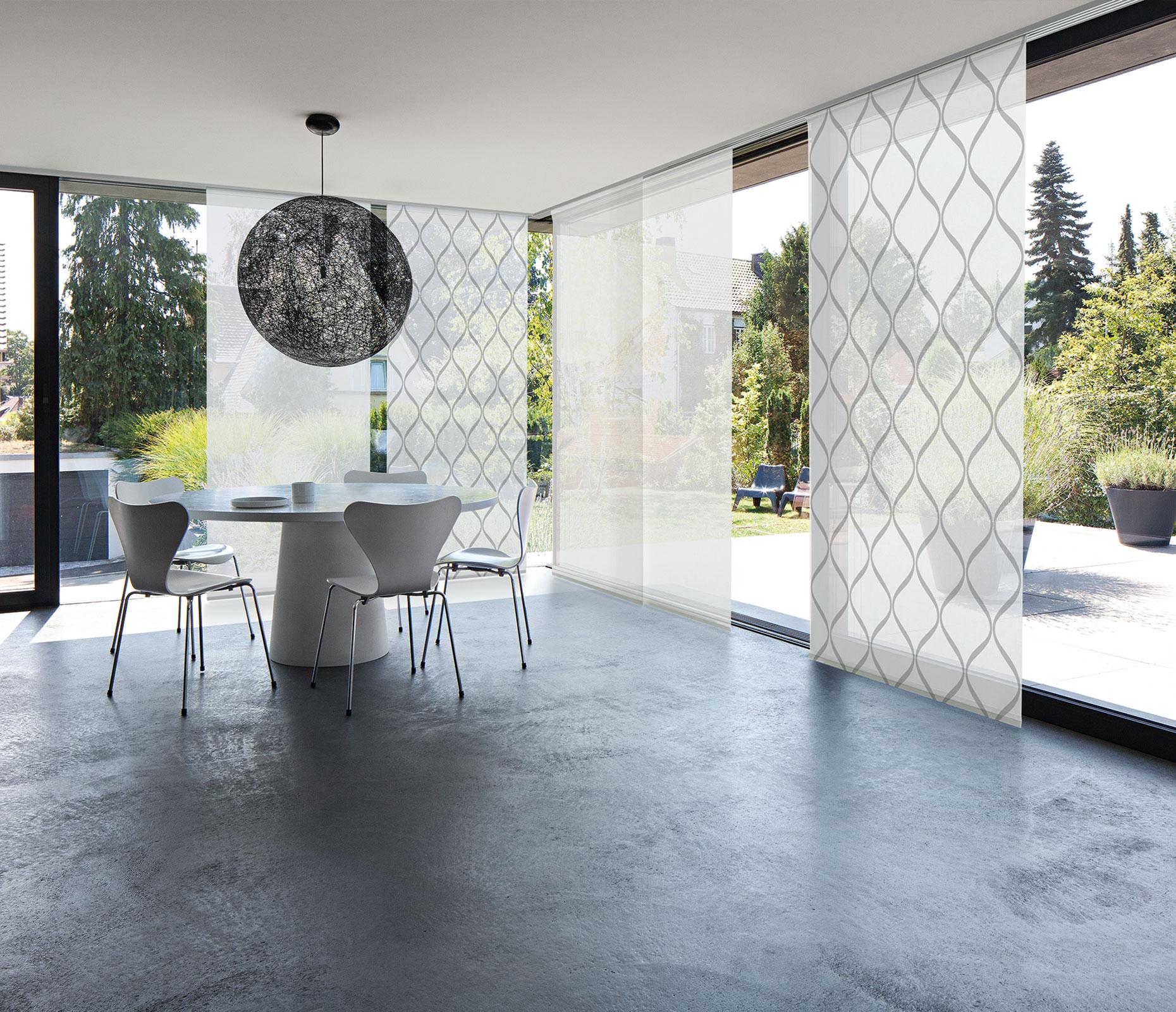 Bild MHZ | Flächenvorhang mit geometrischem Muster
