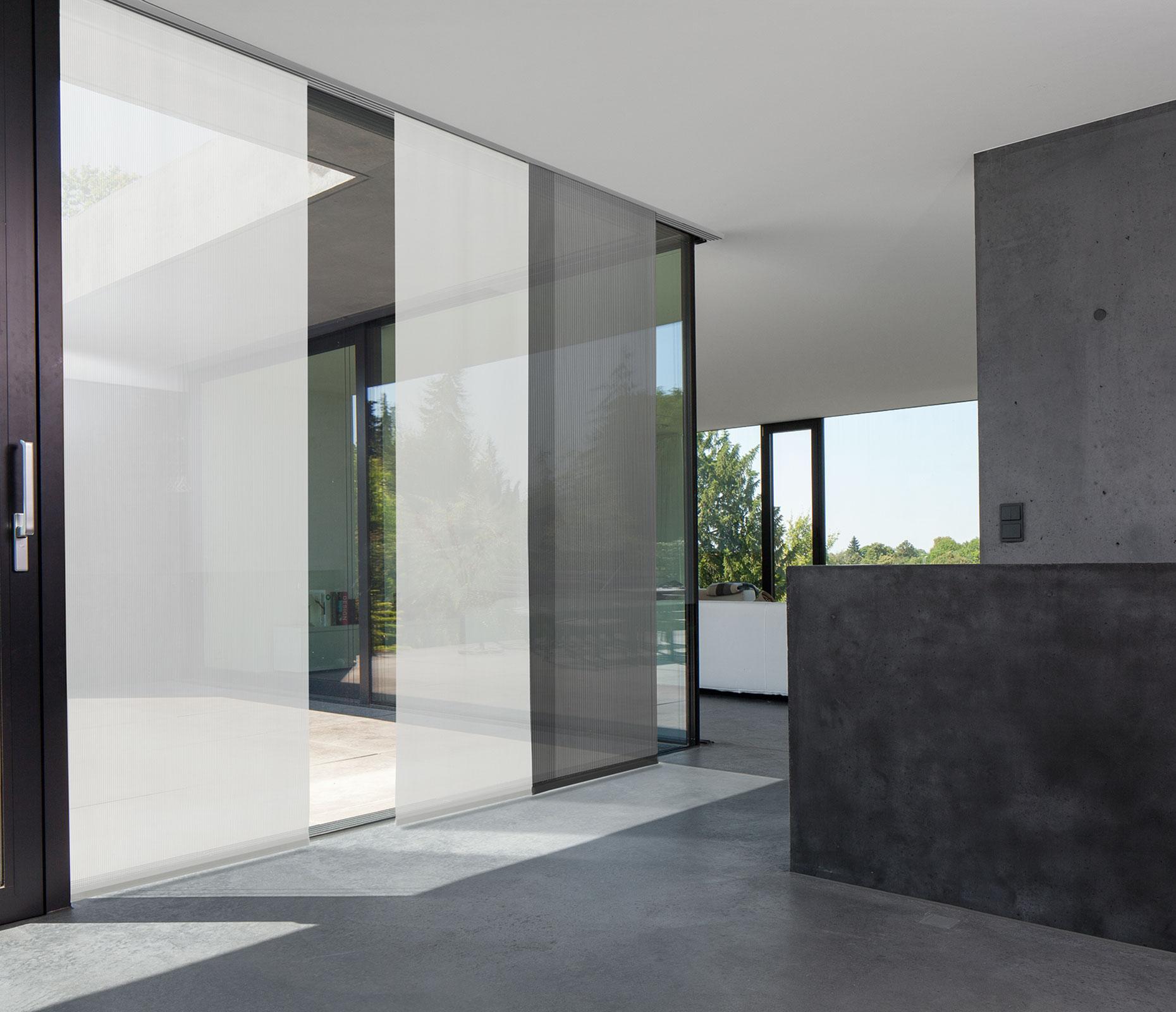 Bild MHZ | Flächenvorhang transparent weiß/anthrazit
