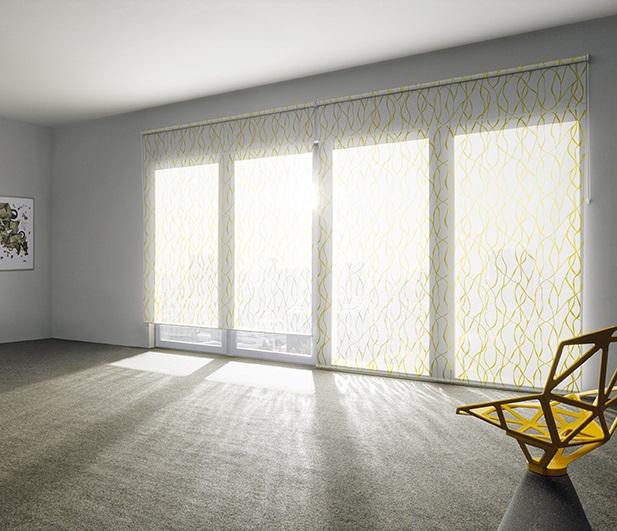 Bild MHZ | Rollo mit Muster in sonnigem Gelb